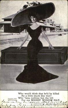 Merry Widow Hat Advertising