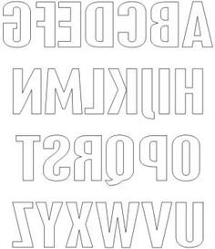 Free Printable Block Letters and Numbers for Scrapbooking and Cardmaking: Free Printable Block Upper Case Letters Using the Placard Condensed Font