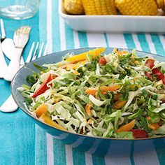 Citrusy Slaw with Peppers and Scallions