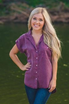Bending the Rules Top ~ Plum available at J. Lilly's Boutique or jlillysboutique.com