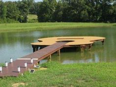 Cooooool  Now that's a fun dock :)  A said to put a mini trampoline inside the whole/string area to jump off into the water  Hmmm could be fun