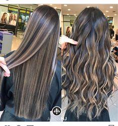 Next hair colors! Brown Hair Balayage, Brown Blonde Hair, Brunette Hair, Hair Highlights, Dark Hair, Black Hair With Highlights, Coiffure Hair, Hair Color And Cut, Hair Day