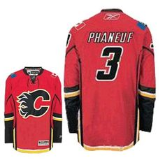 Calgary Flames Dion Phaneuf 3 Red Replica Jersey Sale