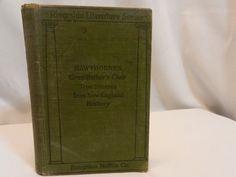 Vintage Riverside Literature Series Hawthorne's Grandfather's Chair