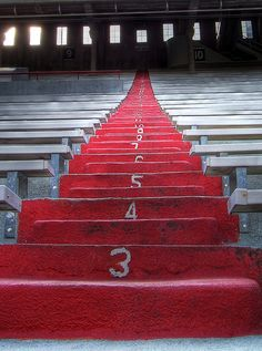 "One of my fav places to take my nephew - ""The Stairs"" at Memorial Stadium, University of Nebraska at Lincoln"