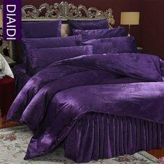 Will Washing Bedding Kill Fleas Velvet Bedding Sets, Purple Bedding Sets, Bed Comforter Sets, Satin Bedding, Luxury Bedding, Purple Bedroom Decor, Purple Bedrooms, Purple Home, Purple Furniture