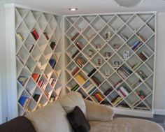 @Melanie McKenzie - Came across and thought of the one you posted earlier - not as stylish but uses some shelves for things other than books. Food for thought? ;-)