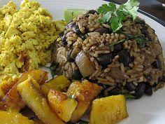 Costa Rican: Traditional Costa Rican dish called Gallo Pinto recipe.