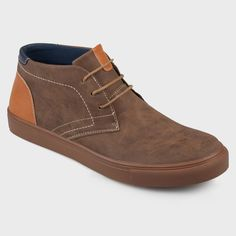 the best attitude 8b1db 8091a Men s Vance Co. Oscar Faux Leather Casual Lace-Up Chukka Boot - Brown 10.  Brown BootsBlack ...