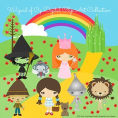 Wizard-of-Oz-Digital-Clipart-clip-art-collection-1256176 Teaching ...