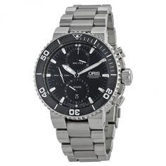 Oris Aquis Chronograph Automatic Black Dial Stainless Steel Men's Watch 774-7655-4154MB - ProDiver - Oris - Watches - Jomashop