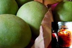 Find Indian food and Bengali recipes. Recipe instructions, spice guide, easy how to steps are here. Pickled Mango, Piccalilli, How To Make Pickles, Mango Pulp, Food Texture, Dried Mangoes, Mango Tree, Sweet Pickles