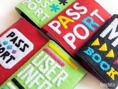 Felt passport cases with inscription by FancyfeltShop on Etsy, $25.00