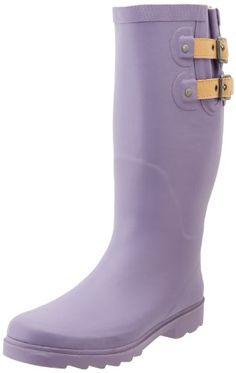 Chooka Women's Top Solid Tall DL Rain Boot,Dark Lavender,... https