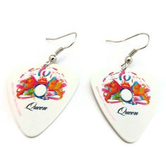 Queen Guitar Pick Earrings Nickel Free A Night At by HausofAriella, $8.00