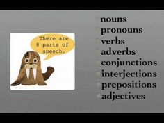 8 Parts of Speech Song - English Grammar Cycle 2 Week 1