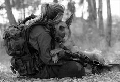 IDF soldier and her dog