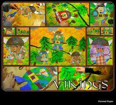 PAINTED PAPER: Vikings!