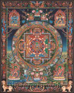 Chakrasamvara Mandala (Sixty-two Deity)    Artist : Ratna Gopal Sinkhwal