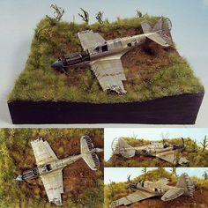 P-40N 1/72 Hasegawa diorama. Modeler Voltan Miniatures Workshop #plasticmodel #usinadoskits #udk #diorama #miniatur #miniature #maqueta #maquette #modelismo #modelism