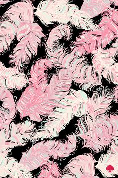 Print by Kate Spade New York - love the pink against the black and the detail on the feathers