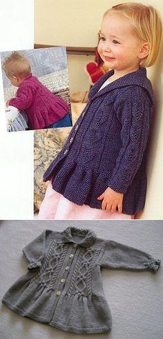 Жакет от Дебби Блис для девочки — Мир вязания и рукоделия Baby Cardigan, Sweater Cardigan, Knit Baby Sweaters, Kids And Parenting, Baby Knitting, Crochet Patterns, Children, Jackets, Clothes