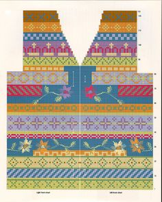 best Ideas for knitting charts album Baby Knitting Patterns, Toddler Sewing Patterns, Knitting Stiches, Bag Patterns To Sew, Knitting Charts, Hand Knitting, Fair Isle Chart, Fair Isle Pattern, Crochet Chart