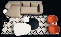 Phoenix Coffee Table With Metal Base - hivemodern.com