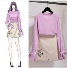 Korean Fashion – How to Dress up Korean Style – Designer Fashion Tips Fashion Week, Cute Fashion, Asian Fashion, Look Fashion, Girl Fashion, Womens Fashion, Fashion Ideas, Fashion Design Drawings, Fashion Sketches