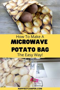 I've found my new favorite way to cook potatoes! We show you How To Make A Microwave Potato Bag The Easy Way! This is a super easy sewing project that you didn't know you needed! This is an easy way to cook perfect potatoes and other veggies quickly and mess free. Just toss you potatoes in the bag and put in the microwave on high. You'll have delicious, fully cooked potatoes in a fraction of the time they take in an oven. Kitchen Sewing Projects. How To Make A Microwave Potato Bag The Easy Way Easy Sewing Projects, Sewing Tutorials, Sewing Ideas, Microwave Potato Bag, How To Cook Potatoes, Sewing For Beginners, Hot Pads, Dish Towels, Potato Recipes