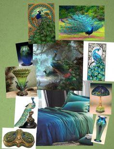 Peacock Bedroom Decor Art Colors Themed Design Ideas Home Demise