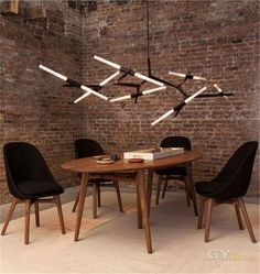 Post Modern lustres chandelier Scandinavian LED hanging lights Restaurant Hotel Hall black gold alloy lighting fixture-in Chandeliers from Lights & Lighting on Aliexpress.com | Alibaba Group