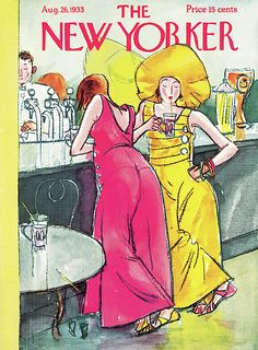 The New Yorker (August Cover illustration by Perry Barlow The New Yorker, New Yorker Covers, Magazine Art, Magazine Covers, Bar Art, August 26, Fashion Cover, Vintage Magazines, Illustrations And Posters