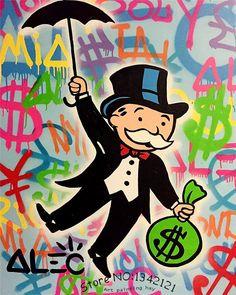 Alec-monopoly-wall-street-ART-canvas-imprimir-POP-ART-gicl&eacute (800×1000)