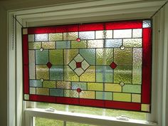 Tiffany Styled Stained Glass Window Panel Valance by HelioGlass, $180.00