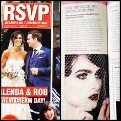 Awarded best pre wedding bridal skincare by RSVP magazine October 2014