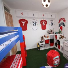 Nathan wished for his room to be transformed to represent his favourite thing - Liverpool FC