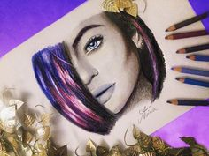 Kylie Jenner drawing by @Artistinx