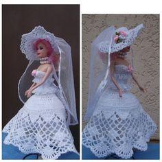 Свадебное платье для Барби. Wedding dress for Barbie.