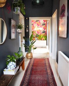 What to do if your decor goes out of fashion. Downpipe hallway.