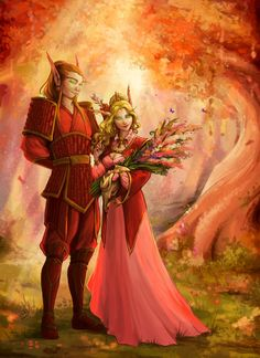 Commission - In the Eversong Woods by LiberLibelula.deviantart.com on @DeviantArt