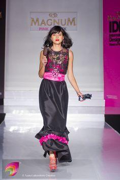 Vestido Black & Pink