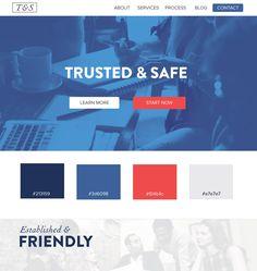 Red and blue - web design ui / ux inspiration color schemes