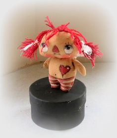 Primitive Raggedy  Annie cloth doll by suziehayward on Etsy, $59.90