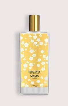 MEMO PARIS - SUNDANCE. WOMAN!!! Sundance is created in honor of the film festival in Utah. This fragrance brings notes of tuberose, pear, bergamot, lemon Tiare flower, pimento, iris, sandalwood, Tonka and musk. The nose behind this fragrance is Alienor Massenet.