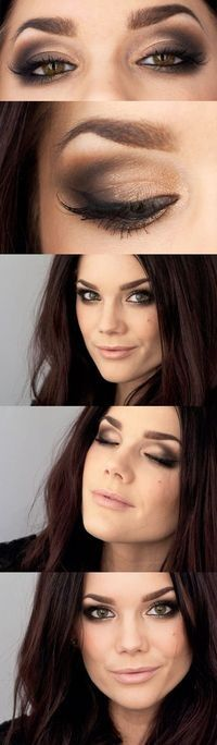 Golden smoky eye for tones that don't look good in purple