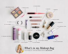 What celebrity hair and makeup artists keep in their bag!! Awesome. Whats in my (makeup) bag: hair and makeup artist Olivia Smalley
