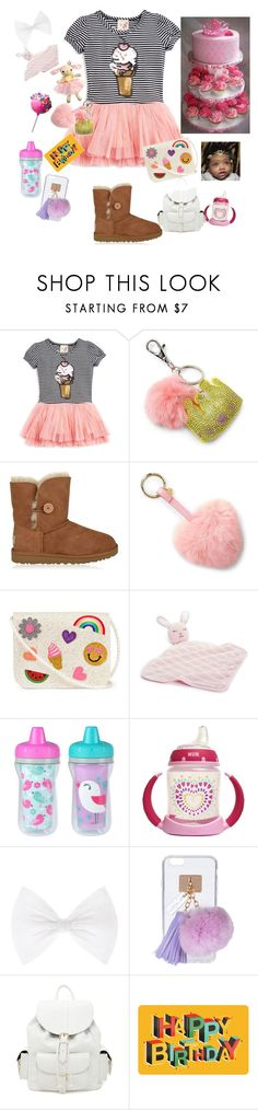 """happy birthday kia-land"" by kayladallaslove ❤ liked on Polyvore featuring Lily Bleu, Bari Lynn, UGG, Nordstrom, The First Years, Ashlyn'd and Forever 21"