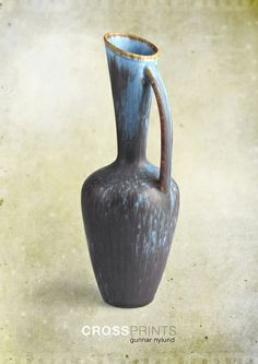 Gunnar Nylund ceramic pitcher. I love this long neck. if it had more of a spout, I would be in love.