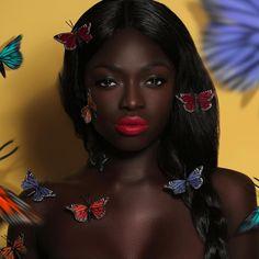 Dark Skin Makeup, Dark Skin Beauty, Hair Beauty, Black Beauty, Black Girls Rock, Black Girl Magic, Divas, Dark Skin Girls, My Black Is Beautiful